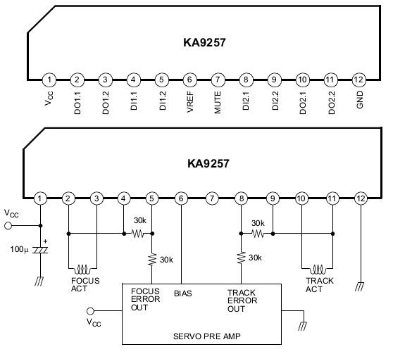 Ka9257 схема включения