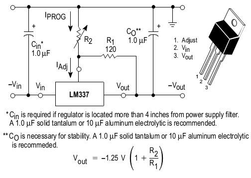 Микросхема lm337t схема подключения