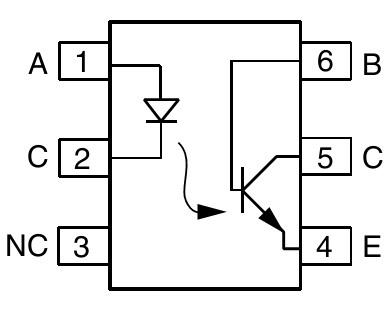 Схема на оптроне 4n35